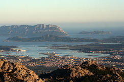 Gulf of Olbia. Top view of the Gulf of Olbia Stock Photos