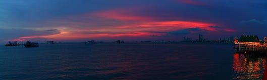 The Gulf of Pattaya Stock Image