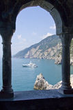 Gulf of Poets. View from the balcony of the St Peter's Church in Portovenere royalty free stock image
