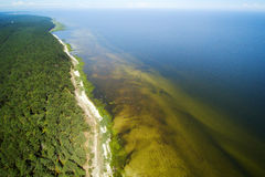 Gulf of Riga, Baltic sea. Aerial view of Riga gulf, Baltic sea Royalty Free Stock Photos