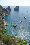 Gulf of Salerno - Capri Island, Italy Stock Photos