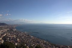Gulf of Salerno seen from the castle. Of Arechi Royalty Free Stock Photos