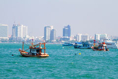 The Gulf of Siam about the city of Pattaya Stock Images