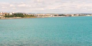 Gulf of Sunny Beach near new Nessebar, Bulgaria Stock Photo