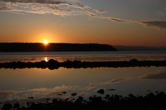 Gulf Sunrise. The sun rises over the Gulf of Georgia Stock Images