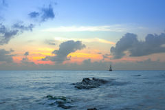 Gulf of Thailand early morning sunrise over the sea. Stock Images
