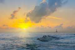 Gulf of Thailand early morning sunrise over the sea. Stock Photography