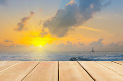 Gulf of Thailand early morning sunrise over the sea. Royalty Free Stock Photography