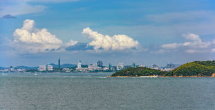 Gulf of Thailand waterfront Royalty Free Stock Image