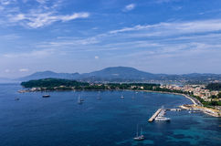 Gulf in the town of Corfu island, Greece Royalty Free Stock Photo