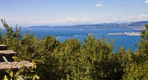 Gulf of Trieste summer view Royalty Free Stock Image
