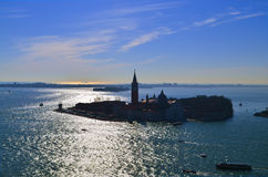 Beautiful water street - evening view Gulf of Venice, Italy Stock Photos