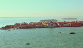 Beautiful water street - Gulf of Venice, Italy Royalty Free Stock Photo