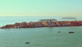 Beautiful water street - Gulf of Venice, Italy Royalty Free Stock Photo
