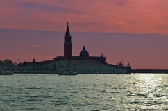 Beautiful water street - evening view Gulf of Venice, Italy Stock Images