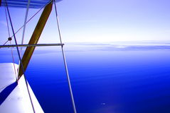 Gulf view from biplane. View of the Gulf St. Vincent from a Tiger-Moth biplane in Adelaide, Australia stock photos