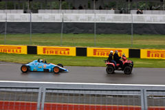 Gulfoil f1600 towed at Montreal Grand prix Royalty Free Stock Photo