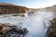 gulfoss冰岛 库存图片