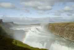 gulfoss瀑布 图库摄影