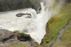 Gulfoss από ανωτέρω Στοκ Φωτογραφίες