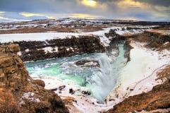 Gulfoss Ισλανδία Στοκ Φωτογραφία