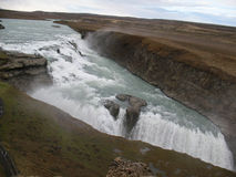 Gulfoss, bella cascata islandese Fotografia Stock