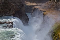 Gulfoss the biggest waterfall of Iceland Royalty Free Stock Photo