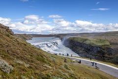 Gulfoss cai em Islândia Imagem de Stock Royalty Free