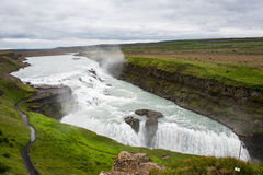 Gulfoss falls in Iceland. Powerful waterfalls Gulfoss inc Iceland, part of Golden Circle Stock Images