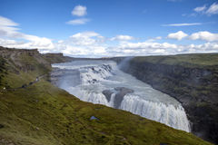 Gulfoss Falls in Iceland. Gulfoss, Thingvellir National Park, near Reykjavik in Iceland Stock Photography