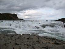 Gulfoss härlig icelandic vattenfall Royaltyfri Foto