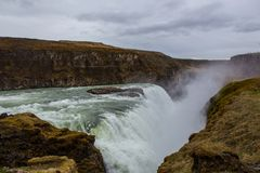 Gulfoss. Iceland. The golden Watefall Royalty Free Stock Image