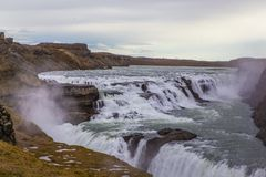Gulfoss. Iceland. The golden Watefall Royalty Free Stock Photography