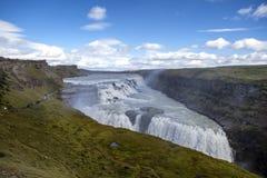 Gulfoss nedgångar i Island Arkivbild