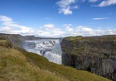 Gulfoss nedgångar i Island Royaltyfri Bild