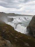 Gulfoss, piękna icelandic siklawa zdjęcie royalty free