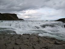 Gulfoss, schöner isländischer Wasserfall Lizenzfreies Stockfoto