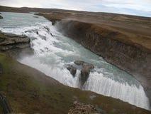 Gulfoss, schöner isländischer Wasserfall Stockfotografie