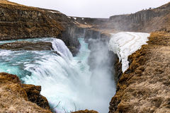 Gulfoss at spring. Gulfoss during spring, Iceland. The Great Watefall Stock Image