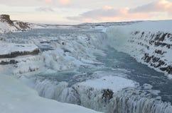 Gulfoss-Wasserfall Stockfoto