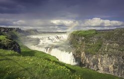 Gulfoss Wasserfall in Island Lizenzfreie Stockfotos