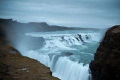 Gulfoss waterfall Stock Images