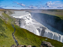 Gulfoss Waterfall, Iceland. The enormous waterfall in Iceland called Golfoss Royalty Free Stock Images
