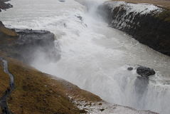Gulfoss Waterfall, Iceland. Royalty Free Stock Photos