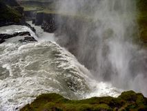 Gulfoss waterfall in iceland. On sunny day Stock Image