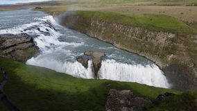 Gulfoss Waterfall Iceland. Near Reykjavik in the Gokden Ring Royalty Free Stock Image