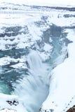 Gulfoss Waterfall Iceland Winter Stock Photos