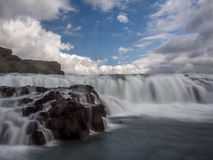 Gulfoss waterfall just before the fall 3 Royalty Free Stock Image