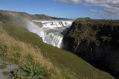 Gulfoss waterfall. On the river Hvita in Iceland Royalty Free Stock Images