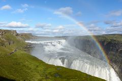 Gulfoss waterfall Royalty Free Stock Photos